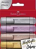Faber-Castell 154640 - Textmarker 46 Metallic, 4 Stück...