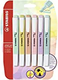 Textmarker - STABILO swing cool Pastel- 6er Pack - 6...