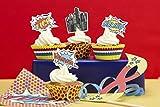 Ginger Ray Pop-Art Superhelden-Partyboxen, gemischt, 5 Stück Cupcake, Aufsatz und Hüllen Standard mehrfarbig