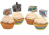Ginger Ray Pop-Art-Superhelden-Party-Boxen (5 Stück),...