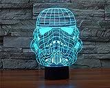 SmartEra 3D Star Wars Kaiserstormtrooper Clone Trooper Positiv Panel Modell 7 Farbwechsel USB Touch Taste LED Schreibtischlampe