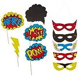 Ginger Ray Comic Superhero Kaboom Party Leckerei/Eis Tubs, gemischt Fotobox-Props 1 gemischt